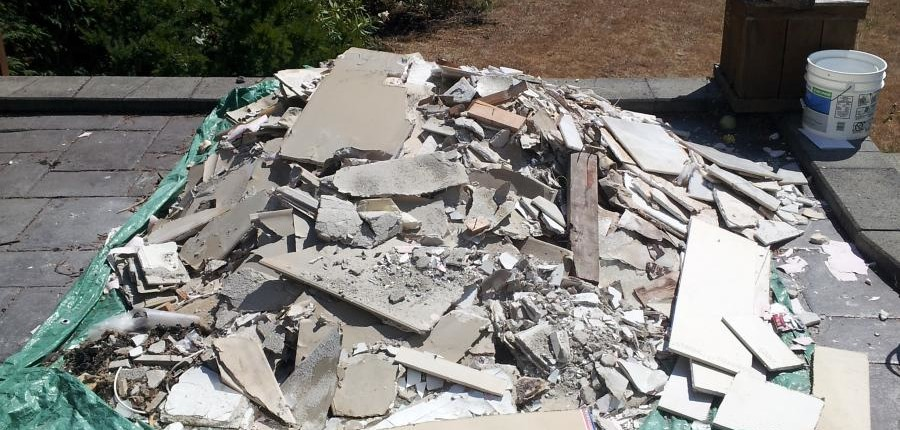 Drywall disposal recycling process atlas junk removal for Does drywall have asbestos